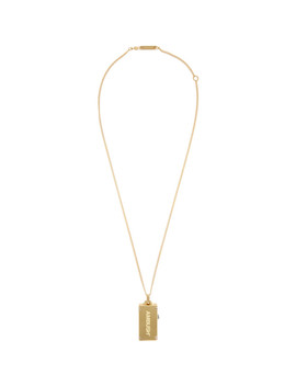 gold-usb-necklace by ambush