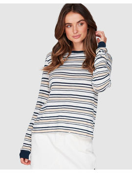 The Ocean Is Mine Striped Long Sleeved Tee by Roxy