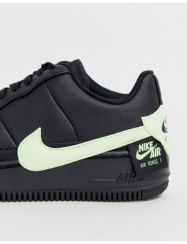 nike-black-and-fluro-green-air-force-1-jester-sneakers by nike