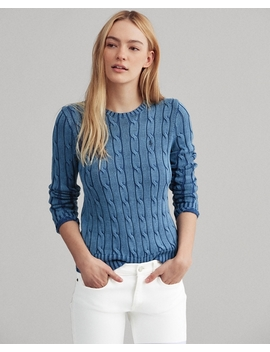Cable Knit Cotton Jumper by Ralph Lauren