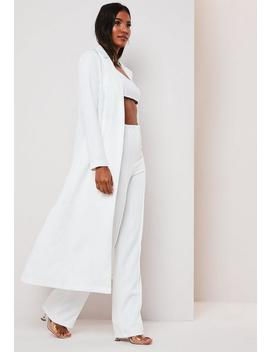 white-co-ord-duster-jacket by missguided