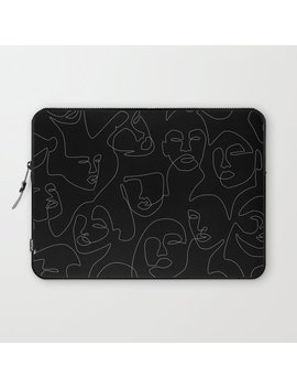 face-lace-laptop-sleeve by society6