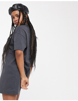 collusion-mini-t-shirt-dress-in-washed-grey by collusion