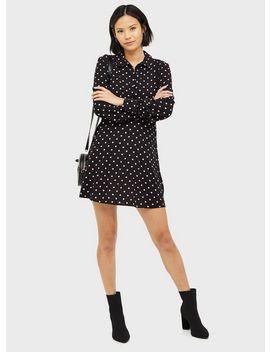 black-high-neck-shirt-dress by miss-selfridge