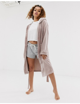 asos-design-petite-super-soft-hooded-midi-robe by asos-design