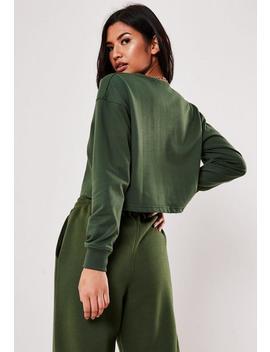 sweat-court-vert-zippé by missguided