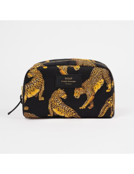 big-black-leopard-beauty-bagbig-black-leopard-beauty-bag by wouf
