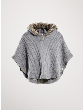 cape-with-faux-fur-hood by massimo-dutti