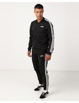 Adidas Originals Back To Basic 3 Stripes Tracksuit Black by Adidas Originals