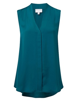 Woven Spliced Pleat Top by Witchery