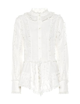 ruffled-cotton-blouse by see-by-chloé