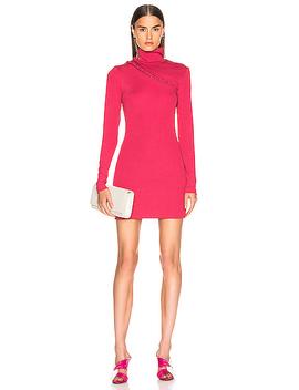 long-sleeve-turtleneck-mini-dress by rotate