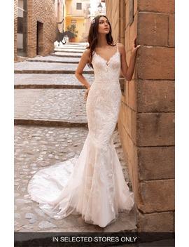 albiorex-embellished-mermaid-wedding-dress by pronovias