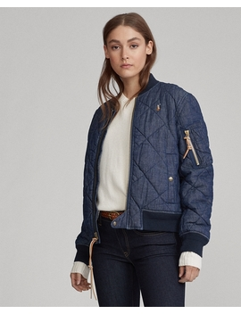 Quilted Denim Bomber Jacket by Ralph Lauren