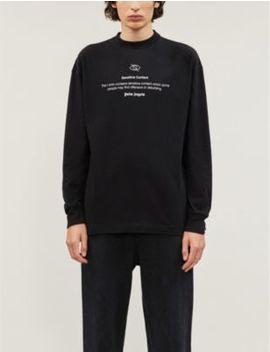 sensitive-content-slogan-print-cotton-jersey-t-shirt by palm-angels