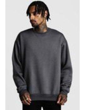 oversized-sweatshirt-aus-fleece by boohooman