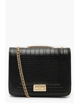 Croc Cross Body Bag by Boohoo