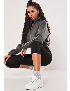 gray-fleece-zip-front-cropped-sweatshirt by missguided