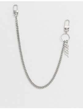 bershka-–-hosenkette-mit-schlüsselanhänger-in-silber by asos
