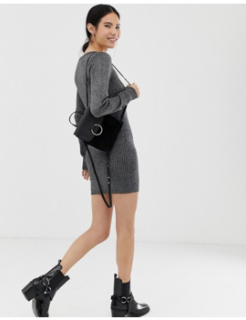 brave-soul---kabeltrui-jurk-in-zwart by asos
