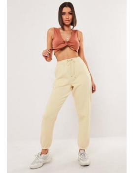 yellow-basic-joggers by missguided
