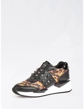 tinsel-animalier-sneaker-with-studs by guess
