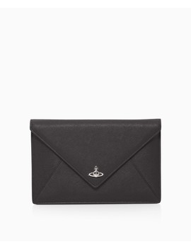 victoria-saffiano-envelope-clutch by vivienne-westwood