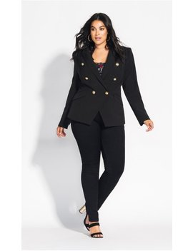 Rock Royalty Jacket   Black by City Chic