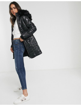 river-island-longline-quilted-padded-jacket-with-fur-hood-in-black by river-island