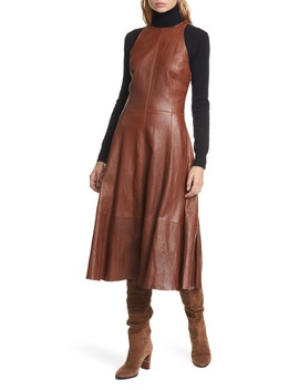 leather-sleeveless-fit-&-flare-dress by polo-ralph-lauren