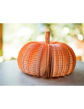 small-paper-book-pumpkins-fall-decor-pumpkin-decor-book-page-pumpkins-halloween-decor-thanksgiving-decor-fall-pumpkin-thanksgiving-table-dec by etsy