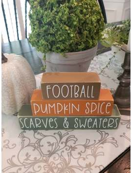 football-pumpkin-spice-scarves-&-sweaters-fall-sign,-what-i-love-about-fall-signs,-fall-decor,-i-love-fall,-autumn-decor by etsy