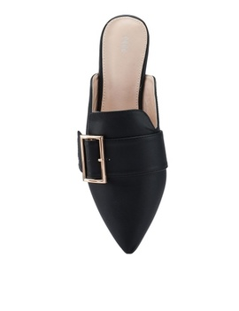 Buckle Flat Mules by Nose
