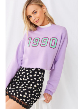 1990-cropped-sweatshirt by forever-21