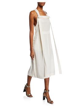adrian-square-neck-side-button-midi-dress by rag-&-bone