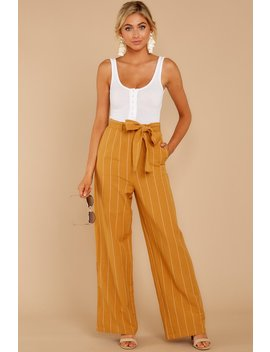 good-life-mustard-stripe-pants by sage-the-label