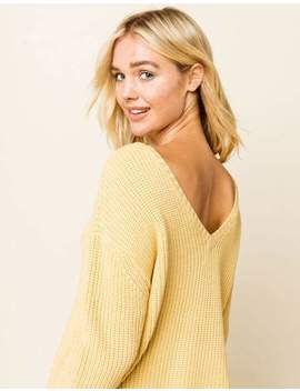 amuse-society-sunset-road-gold-womens-crop-sweater by amuse-society