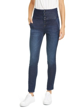 le-military-band-high-waist-skinny-jeans by frame