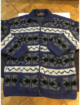 artesanias-coat_-jacket-_cardigan-100%wool-hand-knit-ecuador--one-size--fit-all by artesania