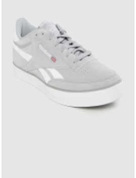 men-grey-leather-revenge-plus-sneakers by reebok-classic