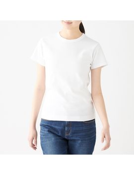 Sweat Stain Protection Jersey Crew Neck S/S T Shirt by Muji