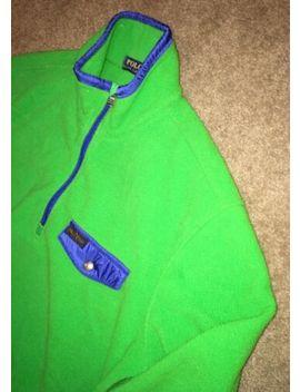 polo-ralph-lauren-mens-1_2-zip-green-fleece-jacket-size-l by polo-ralph-lauren
