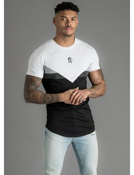 Gk Escobar Tee   White/Black/Marl by The Gym King