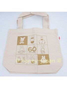 [a297]--miffy-60th-anniversary-original-premium-cotton-tote-bag-by-acecook by ebay-seller