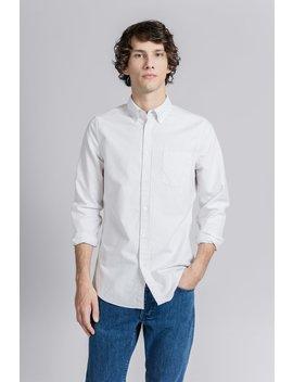 The Oxford Shirt   Light Grey Stripe by Asket