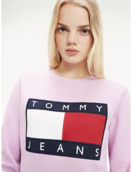 tommy-flag-cropped-sweatshirt by tommy-jeans
