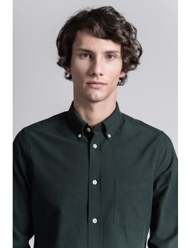 The Oxford Shirt   Dark Green by Asket