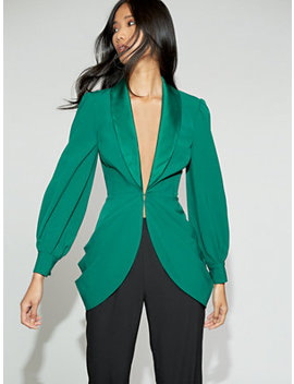 green-ruched-jacket---gabrielle-union-collection by new-york-&-company