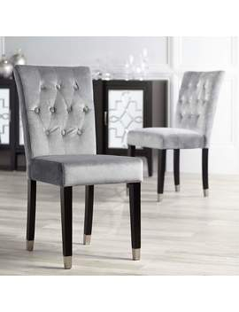 argyle-gray-tufted-armless-dining-chairs-set-of-2 by lamps-plus