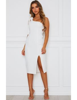 Savanna Midi Dress White by White Fox